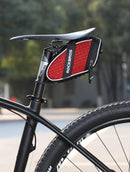 Bike Bag 3D Shell Rainproof Saddle Bag Reflective Rear Seat-post