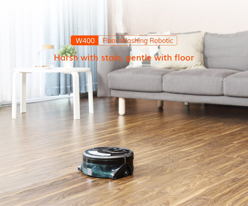 New W400 Floor Washing Robot Navigation Large Water Tank Kitchen Cleaning Planned Cleaning Route disinfection