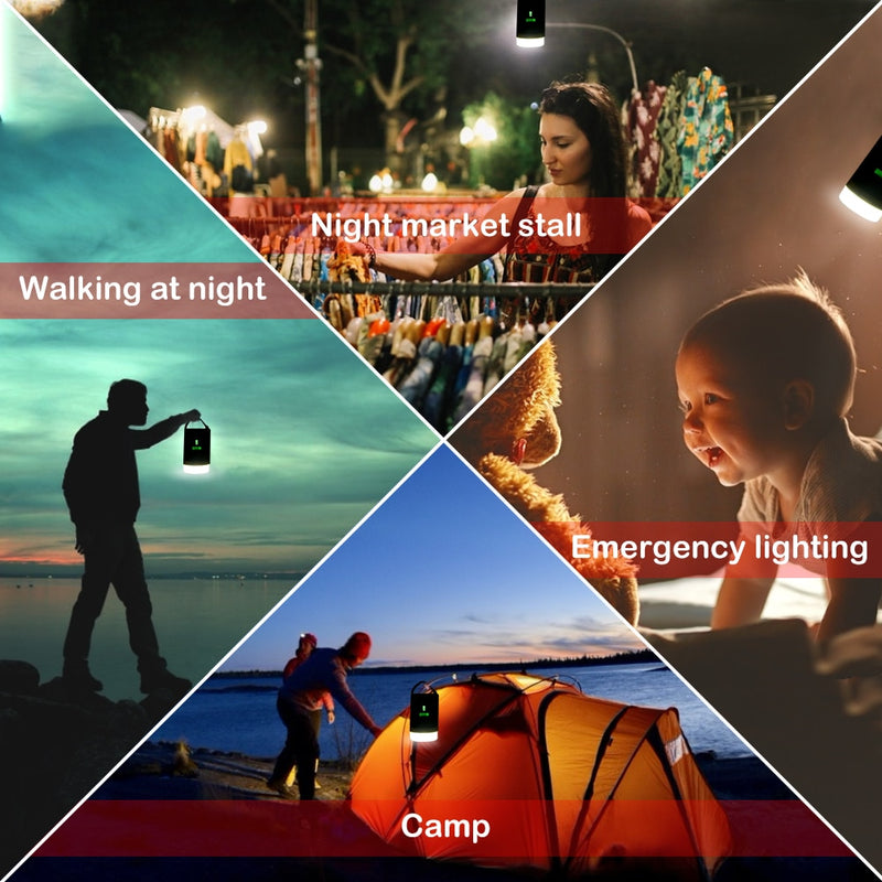 Camping Light Waterproof IPX6 Tent Lamp Portable Lantern LED Night Light Remote Control