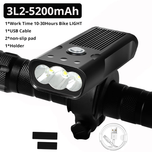 20000 Lumen Bicycle Light USB Rechargeable  Waterproof LED Headlight as Power Bank Bike Accessories