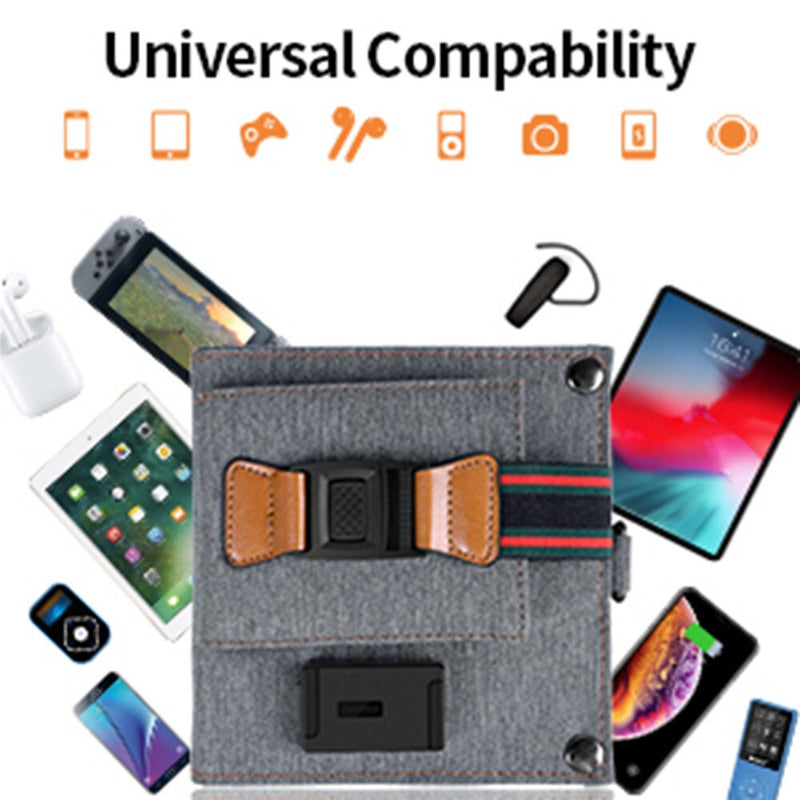 Solar Charger 14W USB Foldable Phone Travel Charger With SunPower Solar Panel Waterproof For iPhone X/8/7/6s/Plus