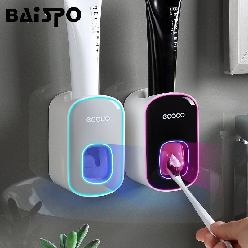 Wall Mount Automatic Toothpaste Dispenser Squeezer Holder