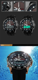 Solar Power Energy Men Sports Watch Digital Quartz