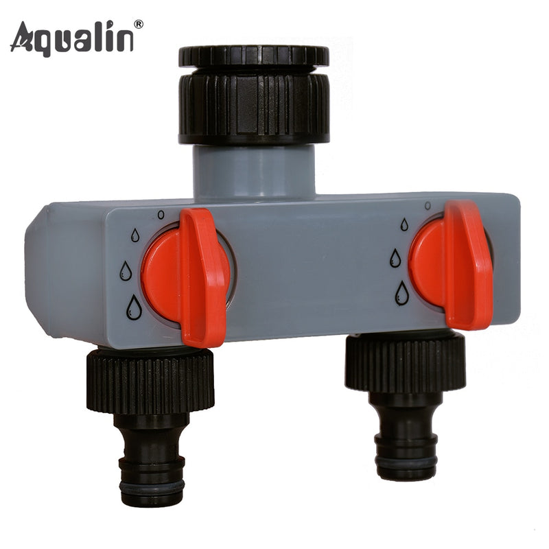 2 Way Water Distributor Tap Adapter  ABS Plastic Connector