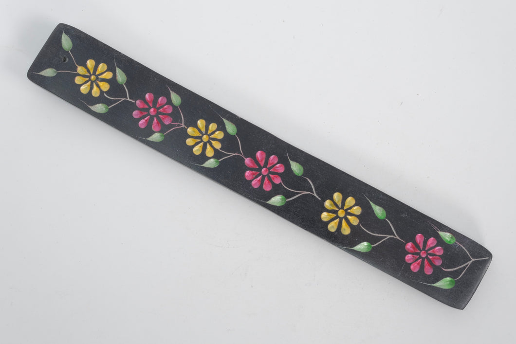 Soapstone Incense Holder - Floral