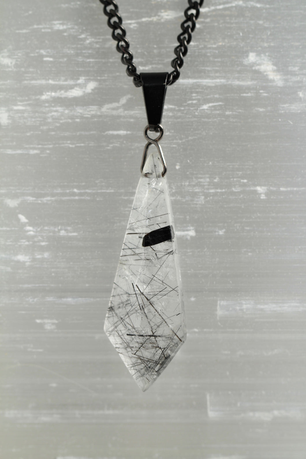 Necklace - Tourmalinated Quartz