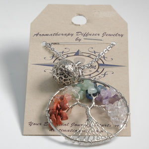 Aromatherapy Diffuser Necklace - Tree of Life