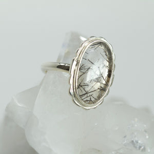 Ring - Tourmalinated Quartz