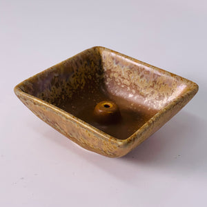 Square Rustic Incense Holder