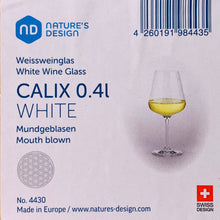 Load image into Gallery viewer, Nature's Design CALIX White Wine Glass