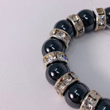 Load image into Gallery viewer, Magnetic Bracelet - Black with Crystal