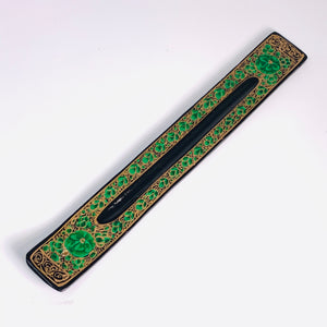 Incense Holder - Green Flower