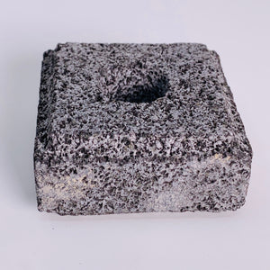 Lava Stone Taper Candle Holder