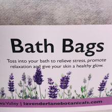 Load image into Gallery viewer, Lavender Bath Bags