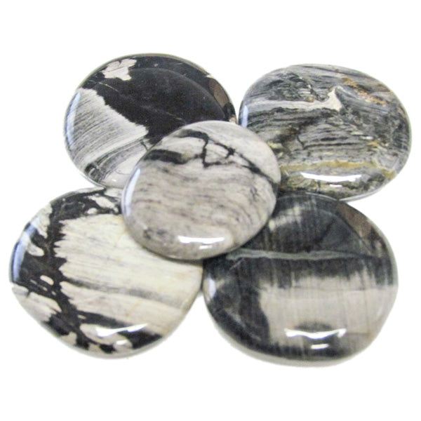 Silver Leaf Jasper Earth Stone