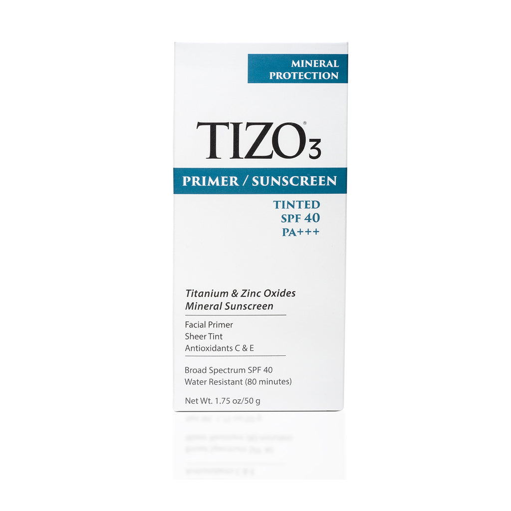 TiZO3 Facial Primer Sunscreen - Tinted SPF 40