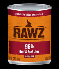 Load image into Gallery viewer, Rawz Dog Cans 12.5 OZ