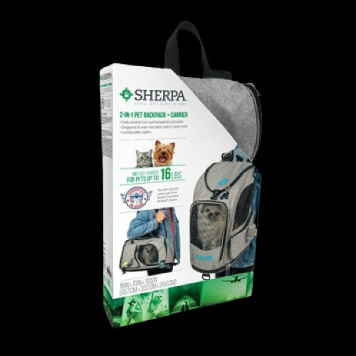 Sherpa Pet Carrier 2 - in - 1 Backpack