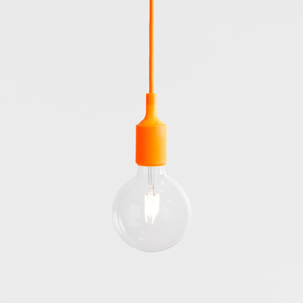 240V E27 Nude Bulb LED Pendant.  Variety of Colours Available.