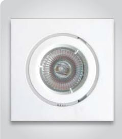 Recessed Adjustable Square LED Down Light.  White Finish.