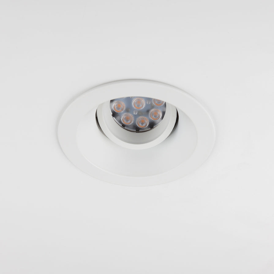 Minimal Trim Architectural Adjustable LED Down Light.  White Finish.