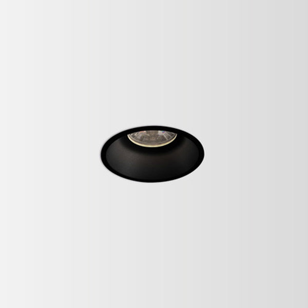 Minimal Trim Architectural Recessed LED Down Light.  Black Finish.