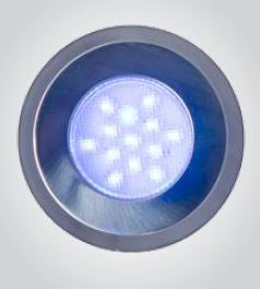 12V Blue LED Up Light - IP66 Rated.  Stainless Steel Finish.