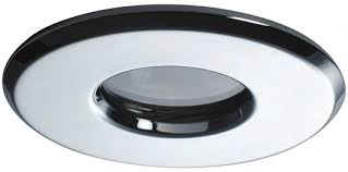 Recessed Showerproof LED Down Light.  IP65 Rated.  White or Chrome Finish.