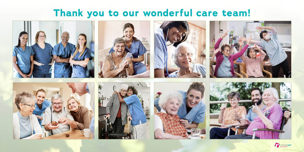 A collage celebrating a care team