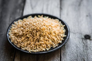 Riz brun à grain long naturel