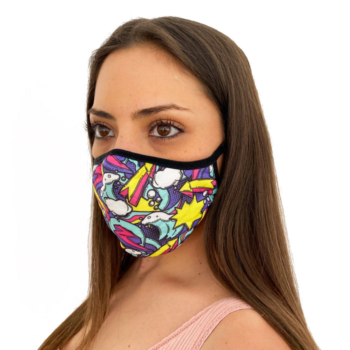 Pop Graffiti Face Mask
