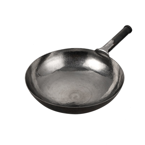 Image of Mico Lifestyle® Master Hand Hammered Iron Stir Fry Woks(Round Bottom) - Mico Lifestyle