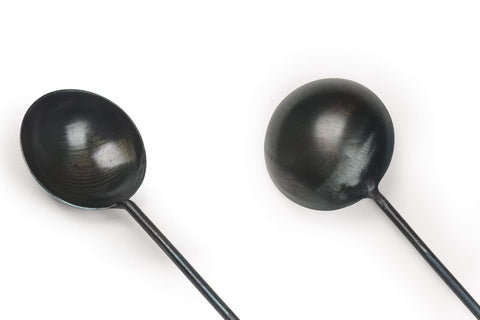 Image of Mico Lifestyle™ Hand Hammered Iron Ladle & spatula - Mico Lifestyle