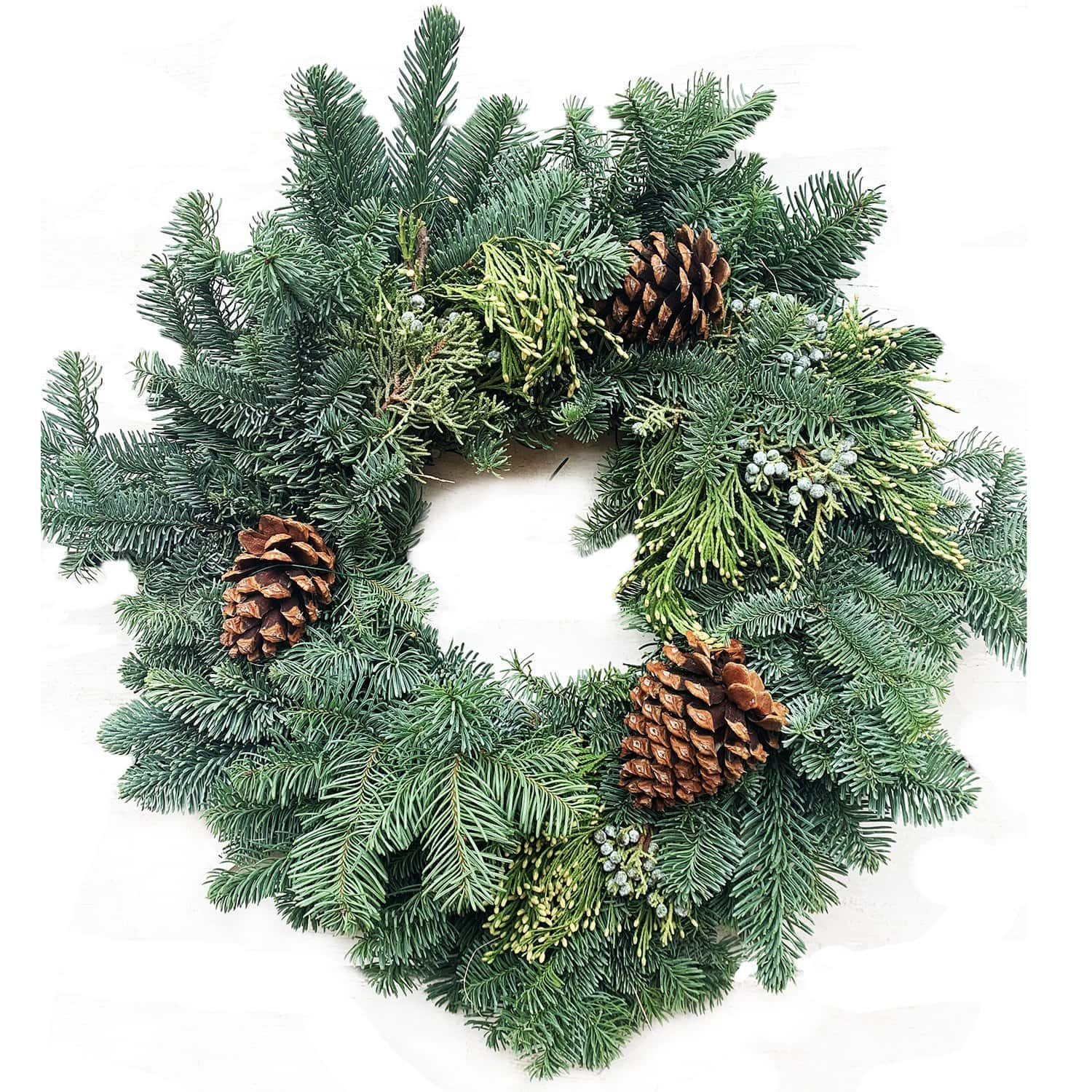 Noble Fir Wreath - Decorated