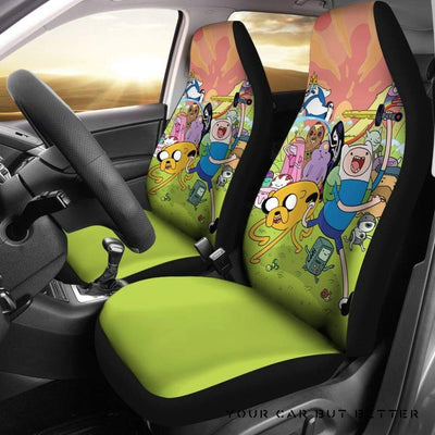 Adventure Time 6 Seat Covers - Cute Design, Universal Fit