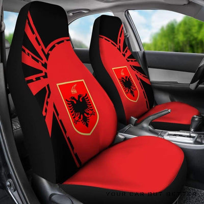 Albania Car Seat Covers Premium Style Th5 - Cute Design, Universal Fit
