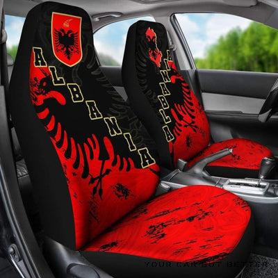 Albania Car Seat Covers Skyline K4 - Cute Design, Universal Fit
