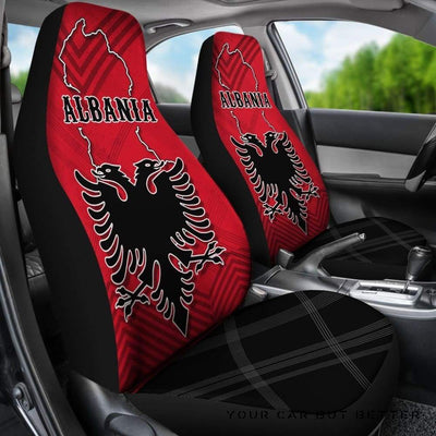 Albania Car Seat Covers Special Map K5 - Cute Design, Universal Fit