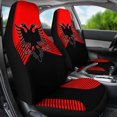 Albania Coat Of Arms Car Seat Covers J2 - Cute Design, Universal Fit
