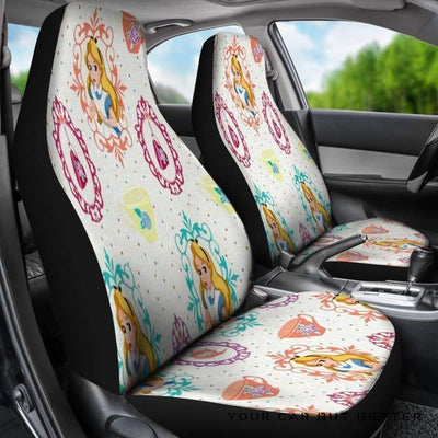 Alice Car Seat Covers Alice In Wonderland Cartoon Fan Gift - Cute Design, Universal Fit