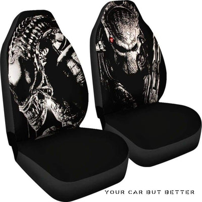 Aliens Vs Predator Car Seat Covers - Cute Design, Universal Fit