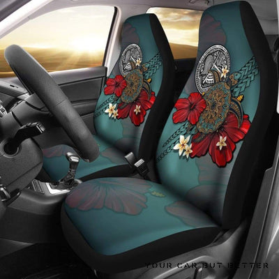 American Samoa Car Seat Covers Blue Turtle Tribal A24 - Cute Design, Universal Fit