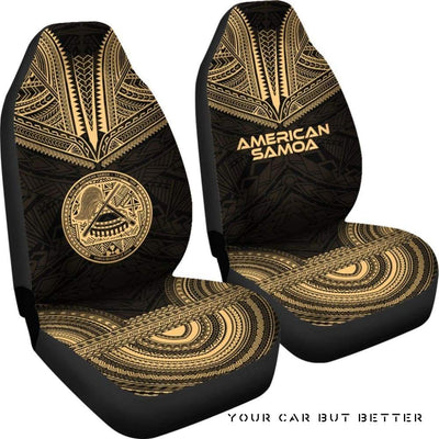 American Samoa Polynesian Chief Car Seat Cover Gold Version Bn10 - Cute Design, Universal Fit