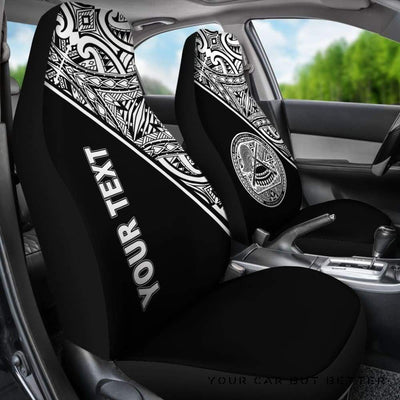 American Samoa Polynesian Custom Personalised Car Seat Covers Black Curve Bn12 - Cute Design, Universal Fit