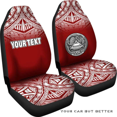 American Samoa Polynesian Custom Personalised Car Seat Covers Red Fog Bn12 - Cute Design, Universal Fit