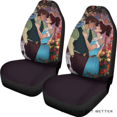 Anastasia And Dimitri Car Seat Covers Disney Cartoon Fan Gift - Cute Design, Universal Fit