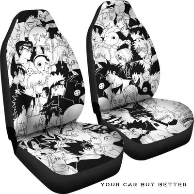 Anime Hero Car Seat Covers Style 1 - Cute Design, Universal Fit