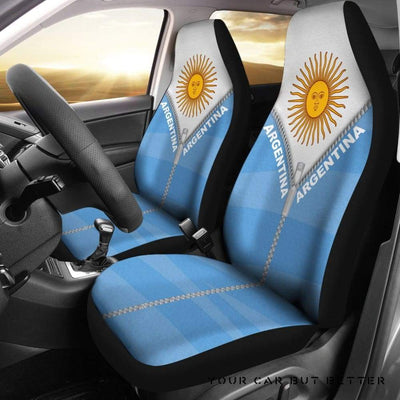 Argentina Car Seat Cover With Straight Zipper Style K52 - Cute Design, Universal Fit