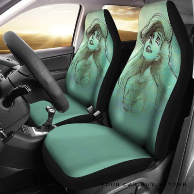 Ariel Disney Princess Car Seat Covers Cartoon Fan Gift - Cute Design, Universal Fit
