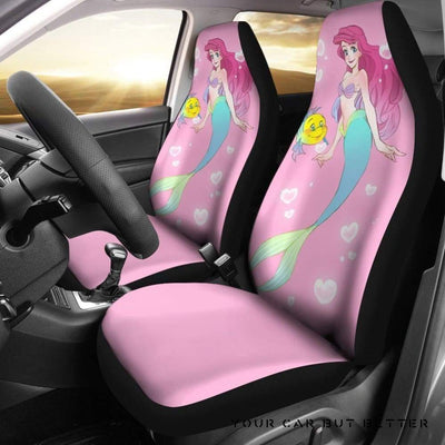 Ariel & Flounder Disney Cartoon Car Seat Covers Style 1 - Cute Design, Universal Fit